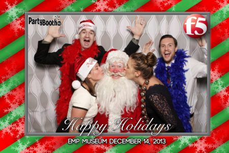 It's the F5 Company Holiday Party at EMP (now called MoPop) - Tonight We PartyBooth! Seattle Photo Booth ©2013 PartyBoothNW.com