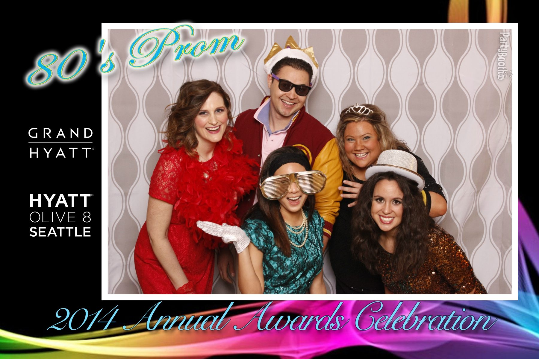 It's an 80's prom! Glitter, neon and leg warmers - let's do this! Tonight We PartyBooth - Seattle Photo Booth ©2014 PartyBoothNW.com