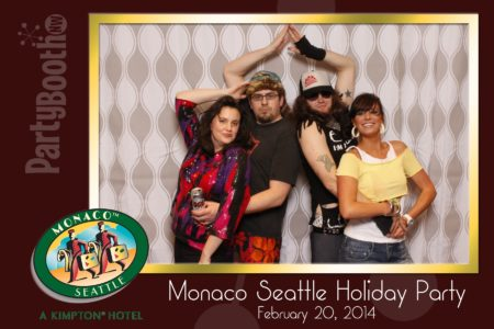 It's the Hotel Monaco Seattle Associate Holiday Party - Tonight We PartyBooth! Seattle Photo Booth ©2014 PartyBoothNW.com