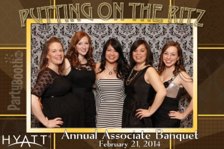 It's the Bellevue Hyatt Regency Annual Awards Banquet - Tonight We PartyBooth! Bellevue Photo Booth ©2014 PartyBoothNW.com