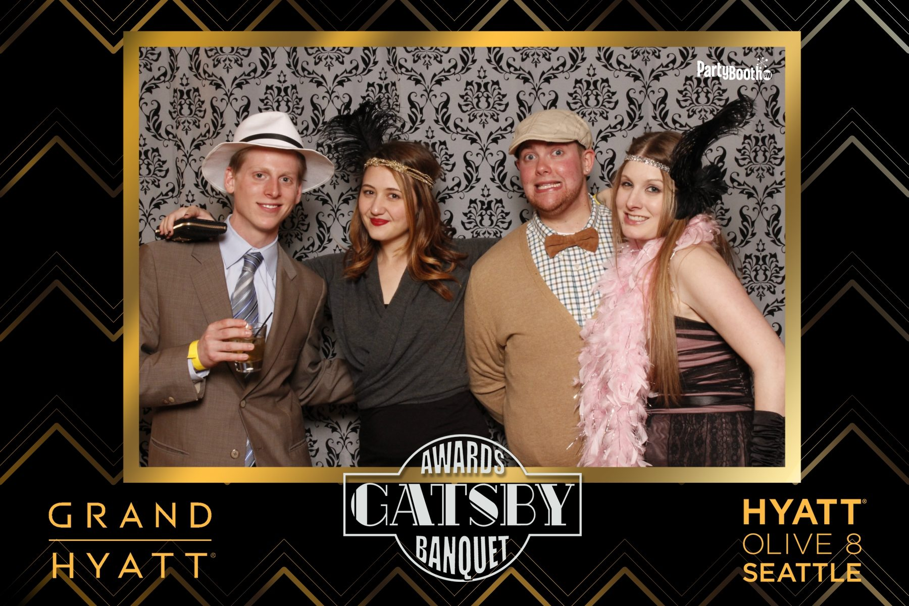 It's the Hyatt Seattle Annual Awards Banquet - Tonight We PartyBooth! Seattle Photo Booth ©2014 PartyBoothNW.com