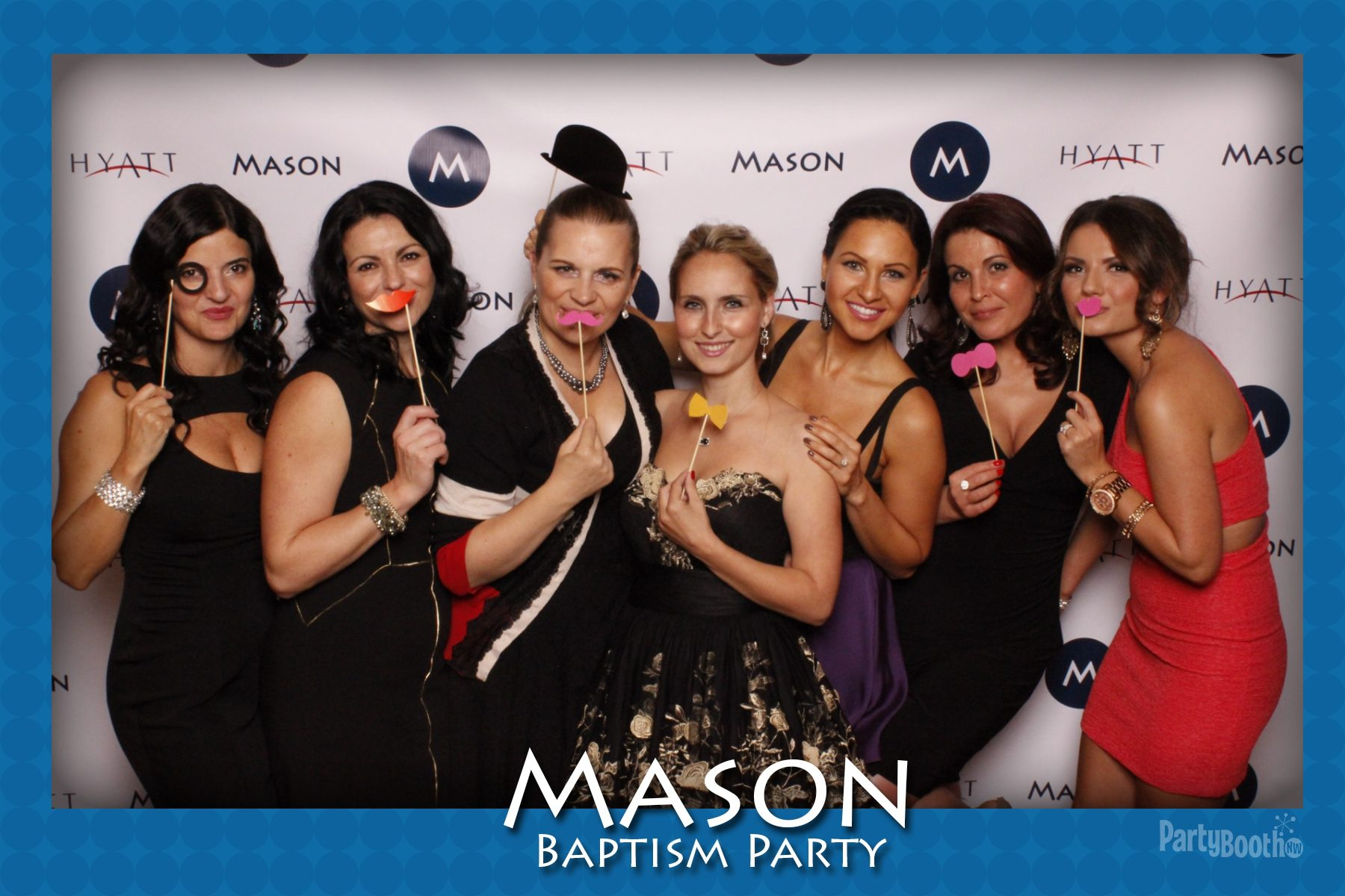 Celebrating Mason's Baptism - Tonight We PartyBooth! Bellevue Photo Booth ©2014 PartyBoothNW.com
