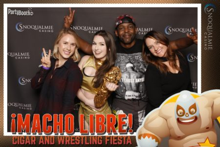 The one and only Macho Libre Cigar & Wrestling Fiesta returns to the Snoqualmie Casino Ballroom on Friday, May 5. Enjoy high flying Lucha Libre action as well as special deals... We celebrate Cinco de Mayo in style - Tonight We PartyBooth! Seattle Photo Booth ©2017 PartyBoothNW.com