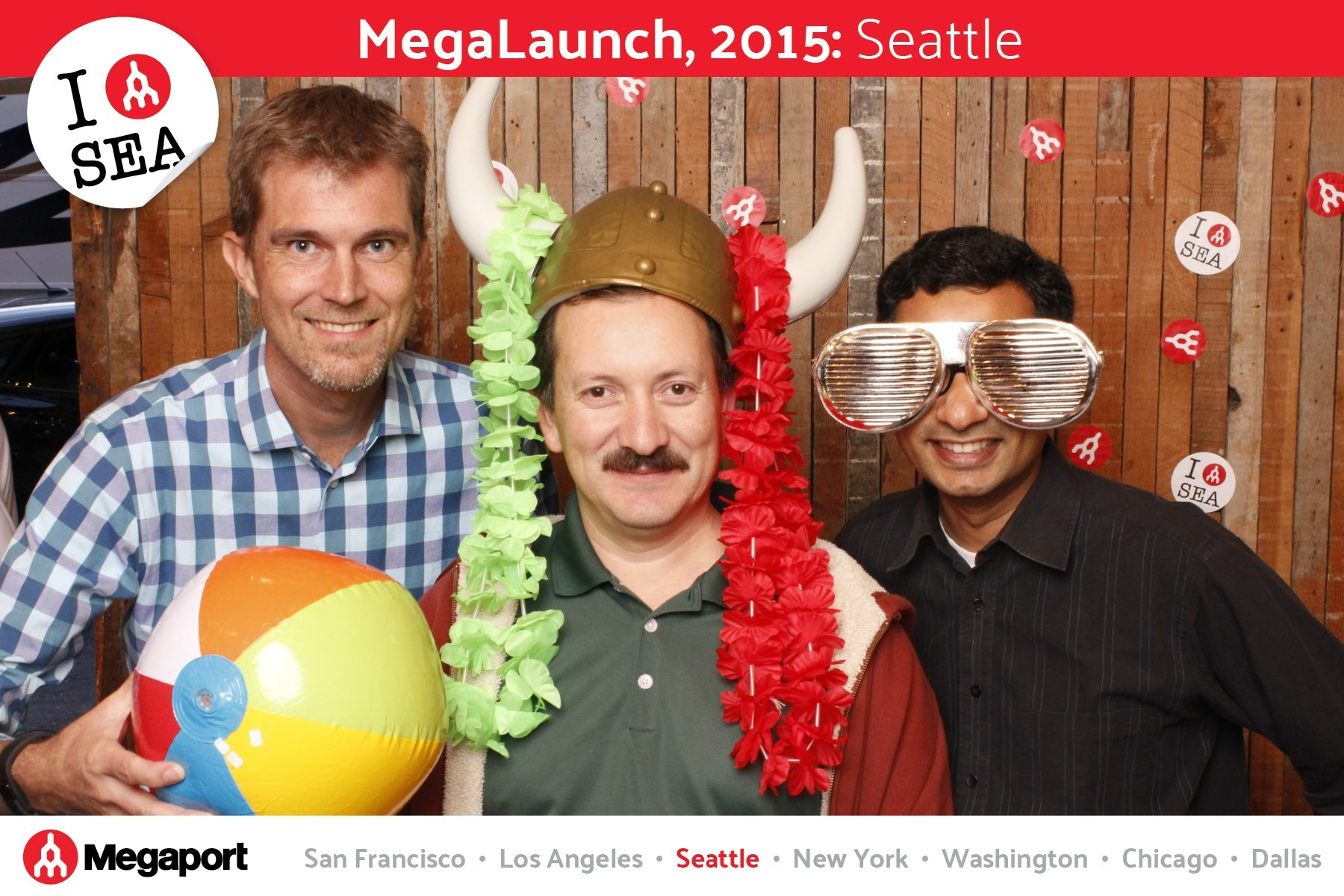 Celebrating the US Launch of Megaport at Sole Repair Workshop in Seattle's Capitol Hill Neighborhood - Tonight We PartyBooth! Seattle Photo Booth ©2015 PartyBoothNW.com