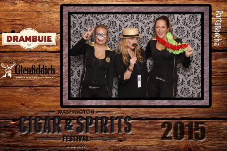 Celebrating the 5th Annual Washington Cigar and Spirits Festival with the Lit Cigar Lounge, Drambuie and Glenfiddich. Snoqualmie Photo Booth ©2015 PartyBoothNW.com - Tonight We PartyBooth!